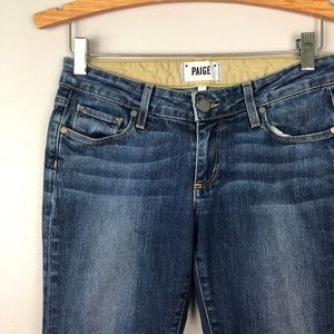 PAIGE Low Rise Cropped Skinny Jeans Size 24